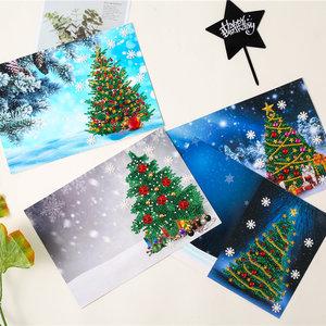 Diamond Paint Kaart Set Christmas tree