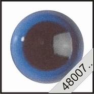 Kunststof ogen blauw (transparant)