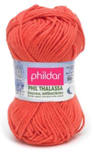 Phildar Thalassa kleur 0001 Coquelicot