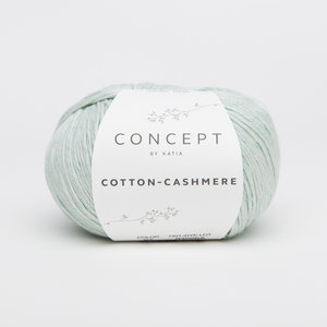 Katia Cotton Cashmere kleur 67 Witgroen