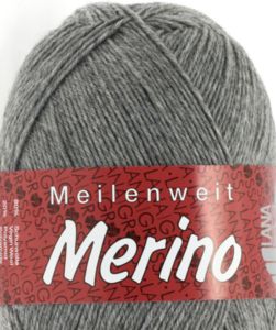 Lana Grossa Meilenweit Merino kleur 2007 grijs