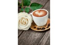Wizardi Diamond Painting Kit Coffee and Rose WD045