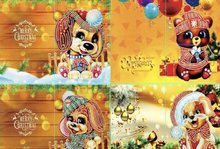 Diamond Paint Kaart Set Christmas Animals