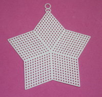 Plastic Stramien ster 7,5 cm