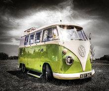 Diamond-Painting VW bus groen 40x50 cm