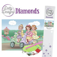 Dotty Designs Diamonds Bubbly Girls Scooter