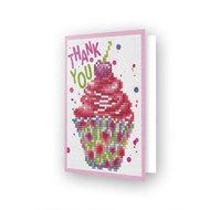 Diamond Dotz kaart Cup Cake Thank You