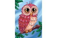 Wizardi Diamond Painting Kit Colourful Owl WD2491