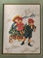 Lanarte 35275 Kinderen Met Slee 15 x 20 cm
