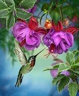Crystal Art Kit   Diamond Painting Hummingbird Dreams