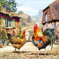 Crystal Art Kit | Diamond Painting Farmyard Chickens
