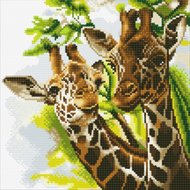 Crystal Art Kit | Diamond Painting Friendly Giraffes
