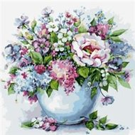 Protsvetnoy Paint by Numbers | Delicate Flowers in a White Vase - MG2102E