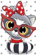 Protsvetnoy Paint by Numbers   Baby Raccoon - MC1096E