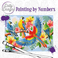 Dotty Designs Paint by Numbers | Parrots- DDP1003