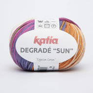 Katia Degrade Sun kleur 92 Ecru Turquoise Groen Bleekrood Oranje