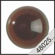 Kunststof ogen donkerbruin (transparant)